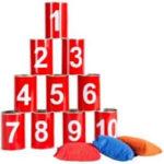 CHAMBOULE TOUT METAL location jeu en bois location 91-75-94-78 - PRINCIPE - Dégommez le maximum de boites avec trois balles