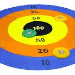 CIBLE FREESBEE - NB DE JOUEURS : 2 et + - PRINCIPE : Lancer les frisbee sur la cible pour faire un maximum de points - DIMENSION : cible de 2 m