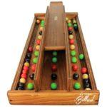 MEMORY BILLES - location jeu en bois location 91-75-94-78  - NB DE JOUEURS : 2 - PRINCIPE : Mémorisez l'ordre des billes et reproduisez la ligne avec le moins d'erreurs possibles - DIMENSION : 60 x 25 cm